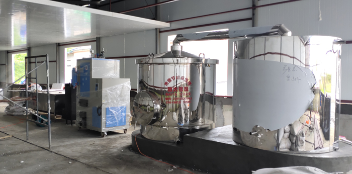 11.2-1000型生物颗粒酿酒设备安装