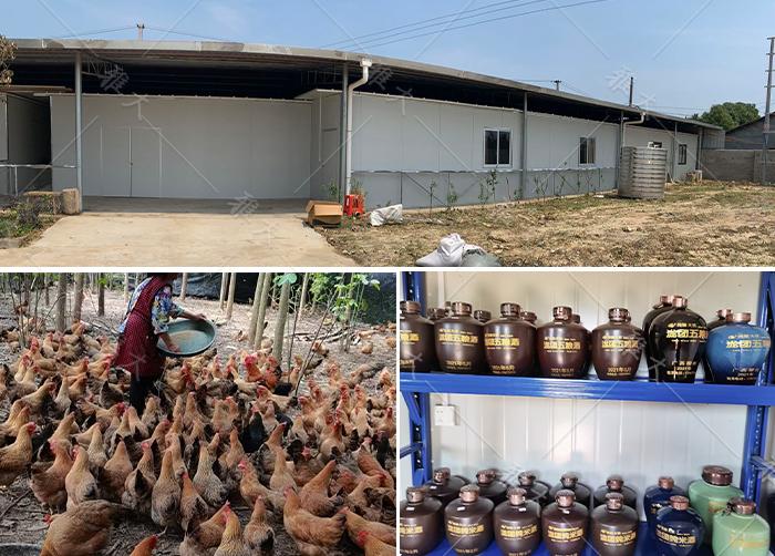 913在刘老师的指导下对酒厂和养鸡场的改造