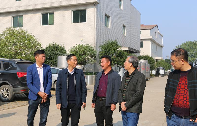 11.12雅大董事长胡顺开与供销首席专家吴国侠先生(右2)亲切交谈
