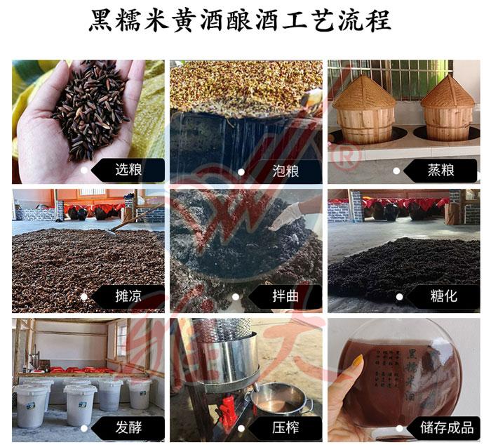 10.11黑糯米黄酒酿酒工艺流程