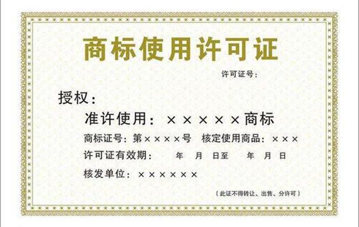 3.3商标使用许可证