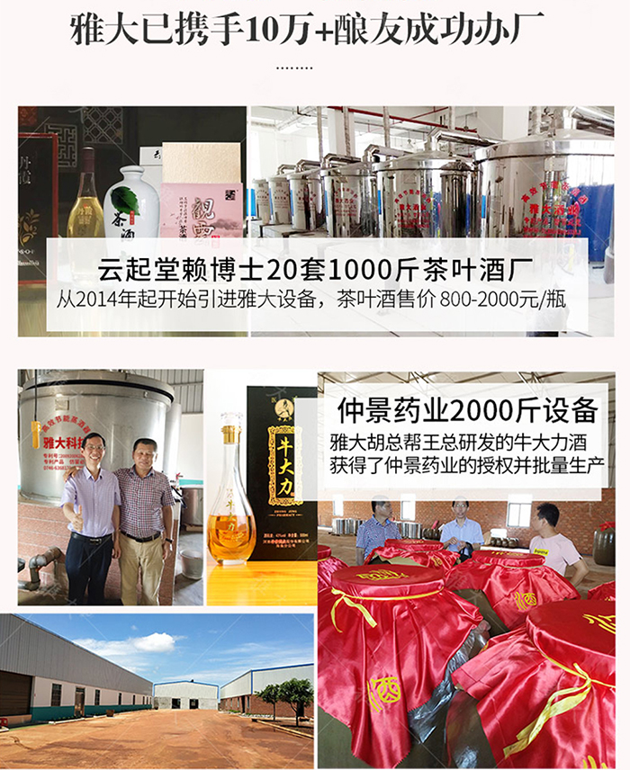 915雅大酿酒设备酒曲帮助10万+酿酒成功办厂