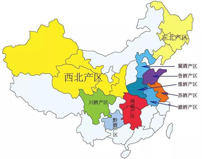 中国白酒产区分布1