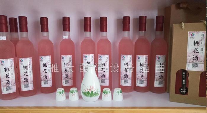桃花源不仅桃花美,用熟料酿酒设备酿造的桃花酒更美-桃花酒