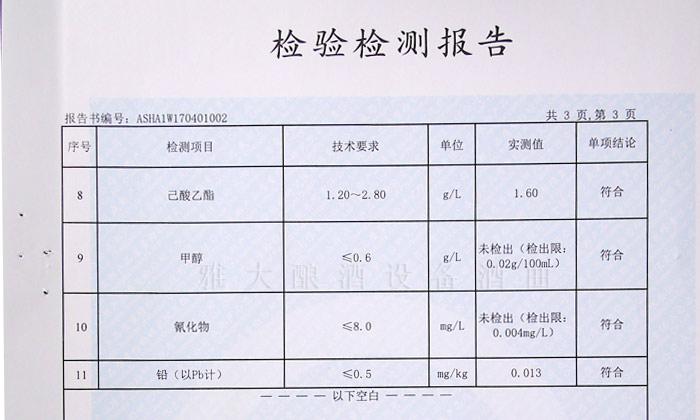 9.6白酒中总酸含量的正常范围