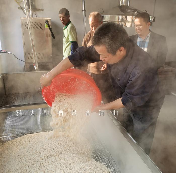 1.22冬季用雅大烧酒设备做大米酒