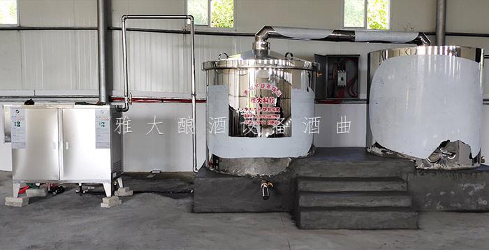 黄总采购的雅大1000斤大型酿酒机械