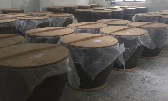 用陶缸发酵