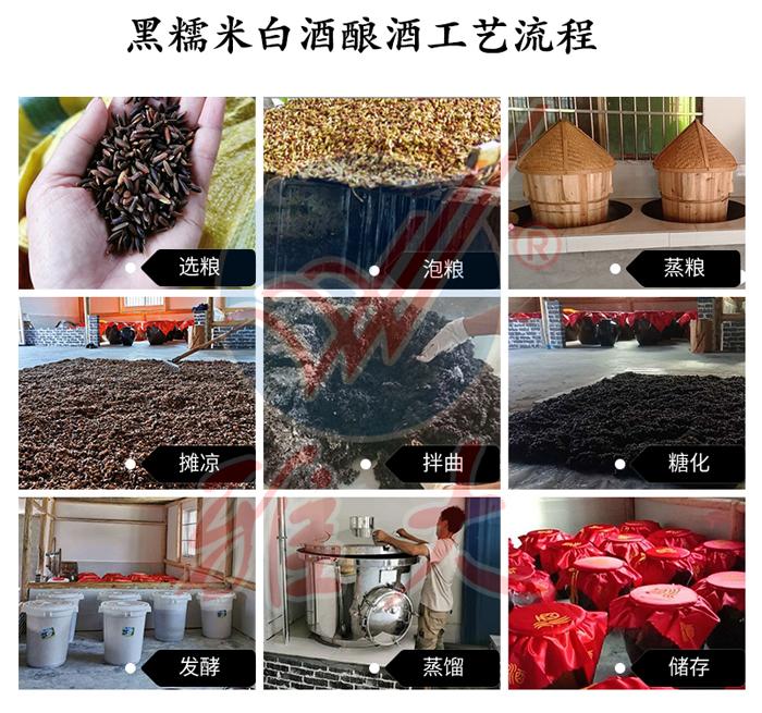 10.11黑糯米酿酒工艺流程