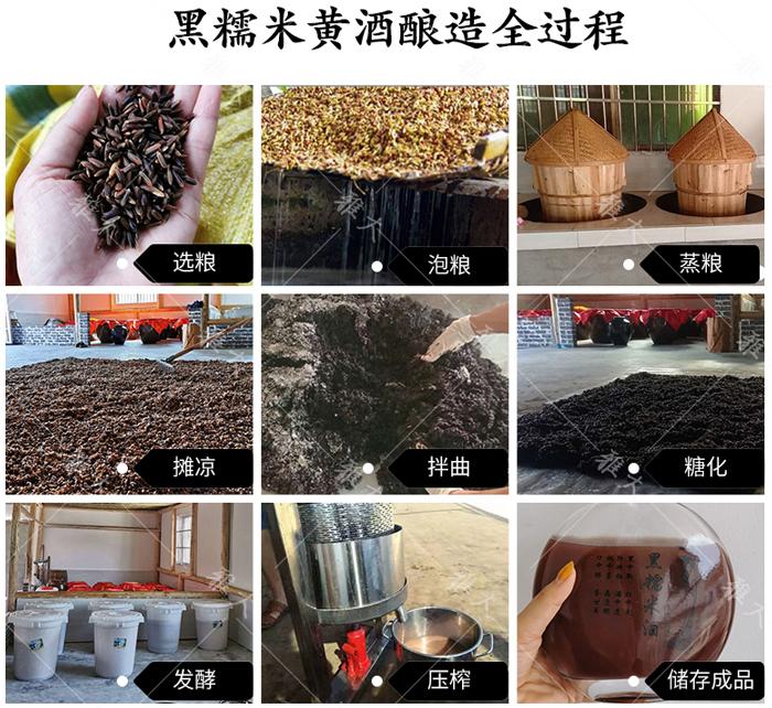 3.17黑糯米黄酒酿酒工艺流程