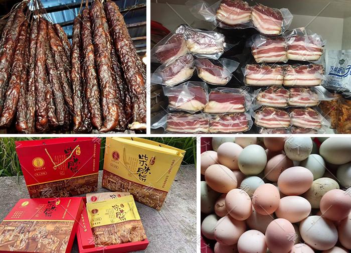 10.11用蒸馏后的酒糟来养猪和鸡,制作成土特产